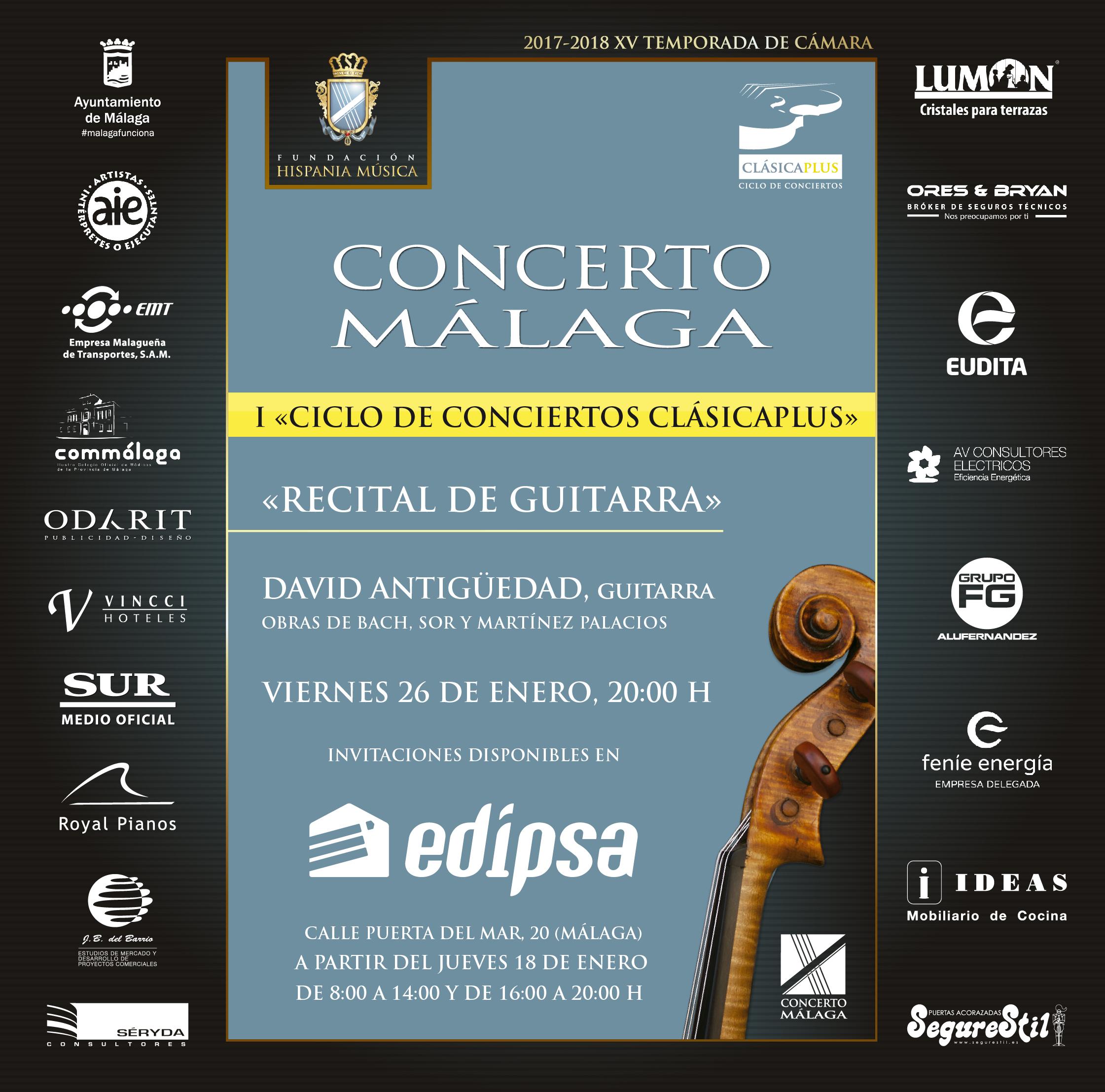 """II Concierto CLÁSICAPLUS """"Recital Guitarra"""""""