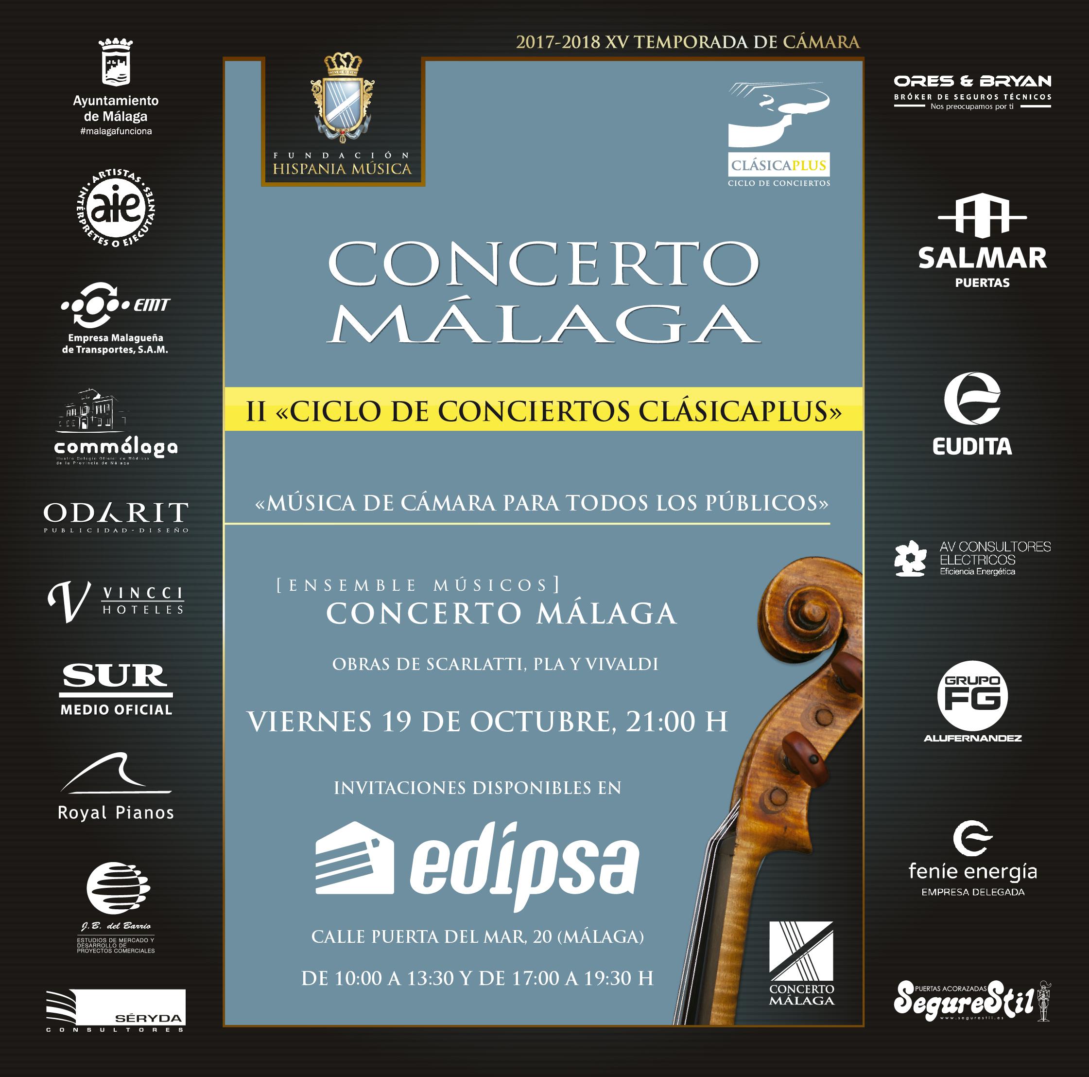 II Ciclo de conciertos Clásicaplus 'Música de cámara para todos los públicos'