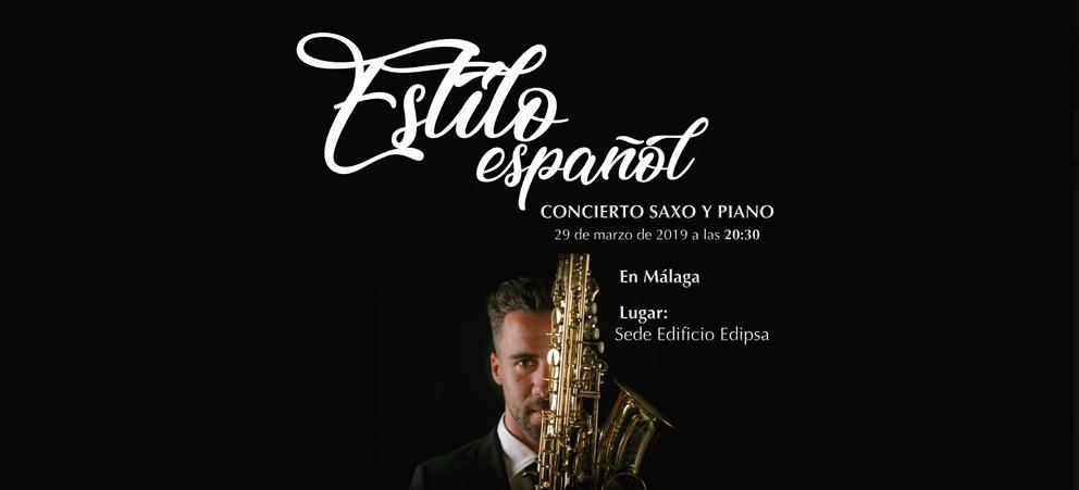 Estilo español: Concierto saxo y piano