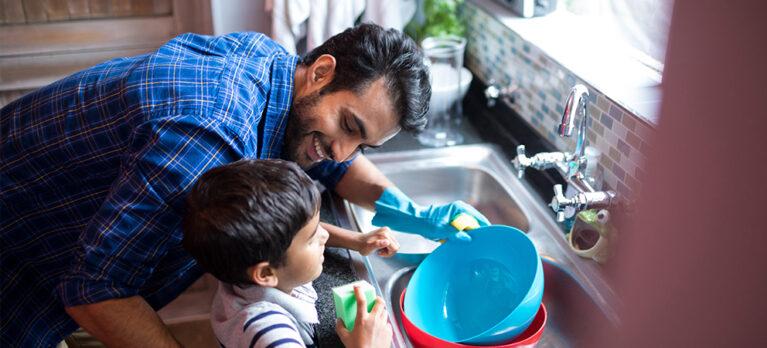tareas del hogar en familia